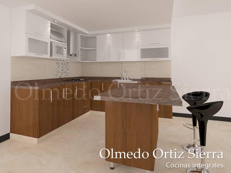 Cocina Café y Blanca de Cocinas Integrales Olmedo Ortiz Sierra | homify