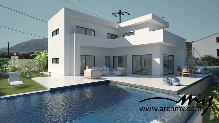 ARCHMY Mimarlık – Burgaz Arkası: modern tarz , Modern