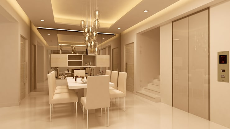 DINING ROOM:   by De Panache  - Interior Architects