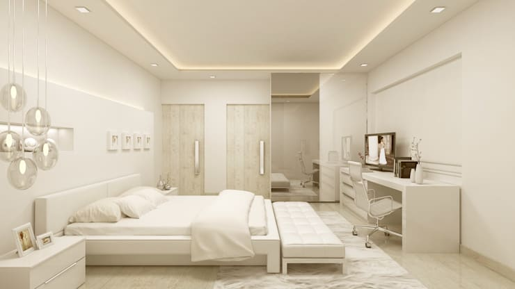 BEDROOM:   by De Panache  - Interior Architects