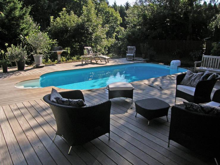 Fertigstellung des Stahlwandpools:  Garten von Hesselbach GmbH