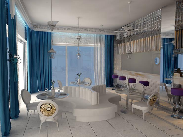Mimoza Mimarlık – ORANGE COUNTY RESORT HOTEL KEMER AKDENIZ A LA CARTE:  tarz Yemek Odası, Modern