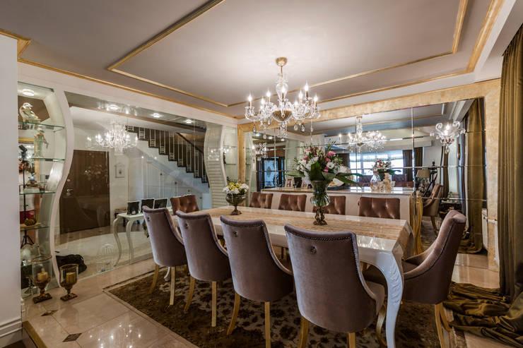 Mimoza Mimarlık – BILGE & AHMET SEZER EVI:  tarz Yemek Odası, Klasik