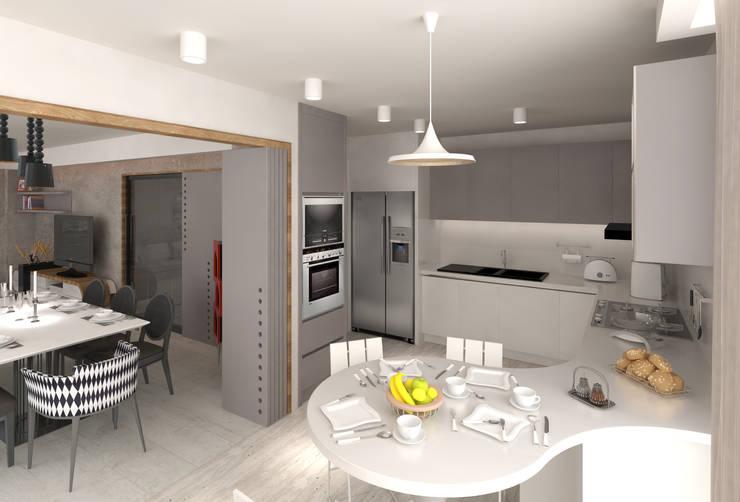 Mimoza Mimarlık – KAPLAN RESIDENCE: modern tarz Mutfak