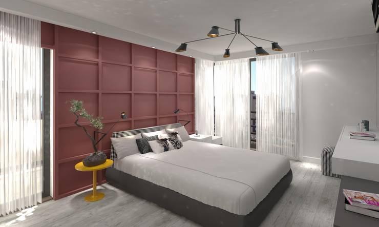 Mimoza Mimarlık – KAPLAN RESIDENCE: modern tarz Yatak Odası