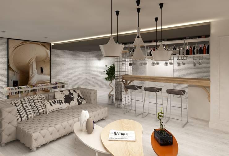 Mimoza Mimarlık – EVRIM & GUNAY ASLAN EVI:  tarz Oturma Odası