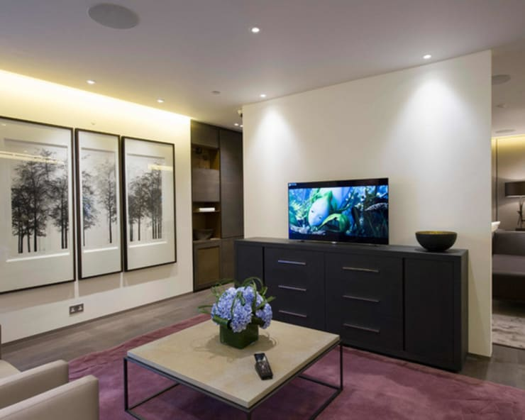 Living room by Crestron