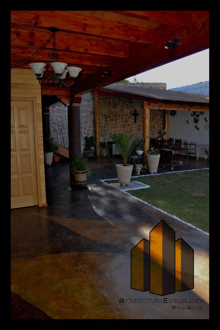 Cabaña: Terrazas de estilo  por Arquitectura Especializada Nueva Vizcaya