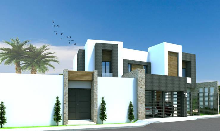 Proyecto Casa MF: Casas de estilo  por Acrópolis Arquitectura
