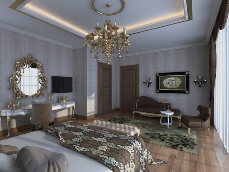 Mimoza Mimarlık – VILLA ZARBIANUS -IRAK:  tarz Yatak Odası