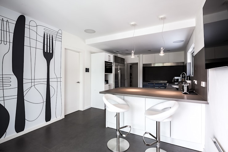 Projekty,  Kuchnia zaprojektowane przez Simon Garcia | arqfoto