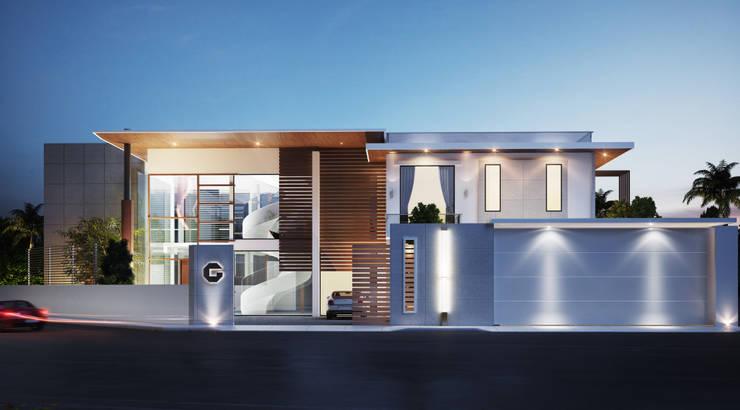 24000 sqft (2230 sqm) double Villa in Dubai:  Houses by Aum Architects