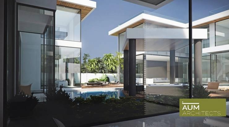 24000 sqft (2230 sqm) double Villa in Dubai:  Terrace by Aum Architects