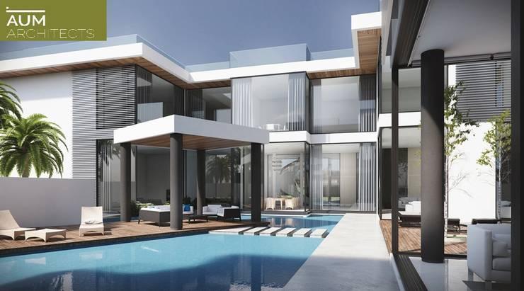 24000 sqft (2230 sqm) double Villa in Dubai: modern Houses by Aum Architects