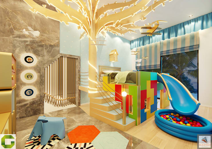 Kids bedroom:  Bedroom by Aum Architects