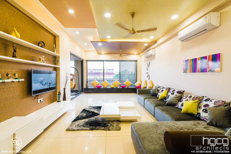 Lavish Living Room:   by HGCG Architects