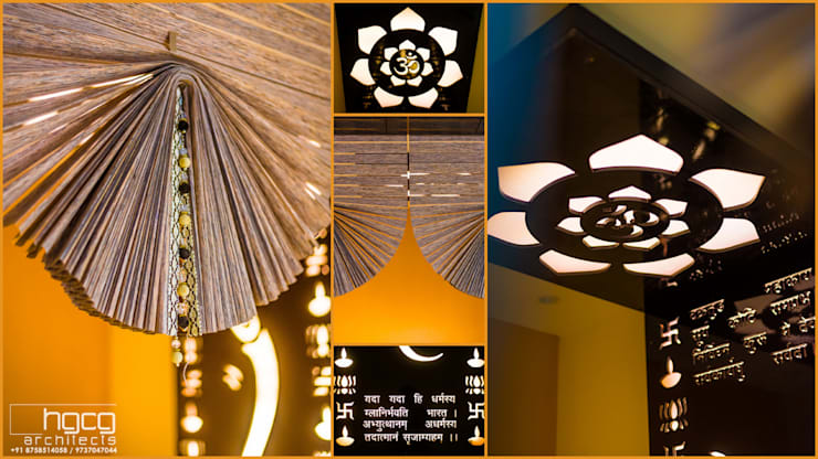 Pooja Room Details:   by HGCG Architects