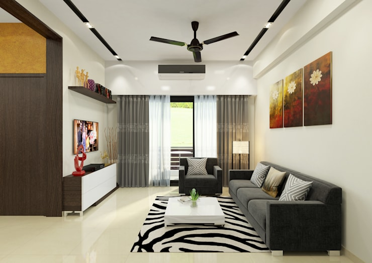 Elegant Living at Jiya Homes:   by HGCG Architects