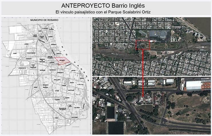 Anteproyecto Barrio Inglés: Jardines de estilo  por Dhena CONSTRUCCION DE JARDINES