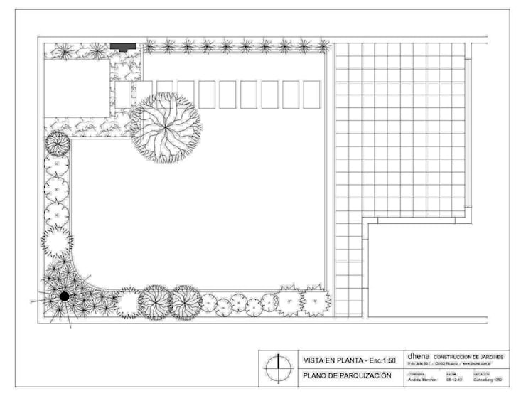 Jardín Menchon: Jardines de estilo  por Dhena CONSTRUCCION DE JARDINES