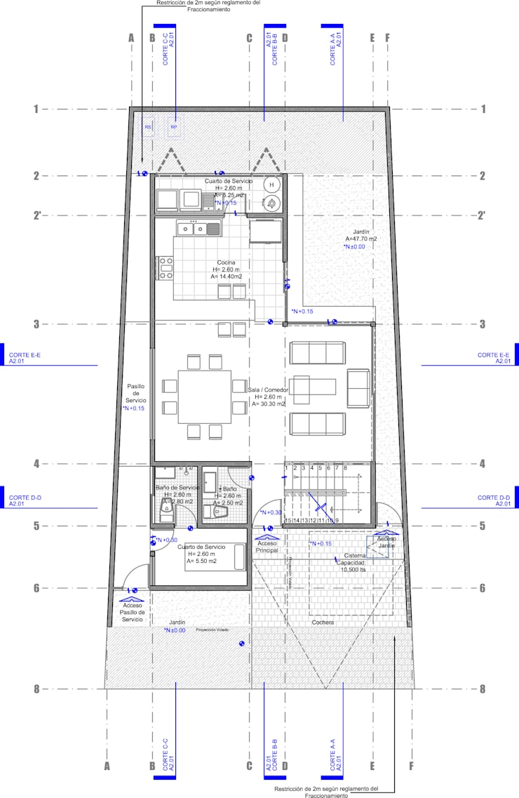 CASA CARDIF 38:  de estilo  por CCA arquitectos