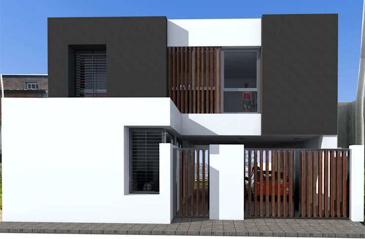 fachada:  de estilo  por VHA Arquitectura