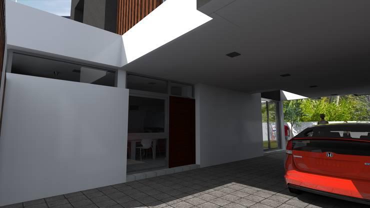 cochera:  de estilo  por VHA Arquitectura