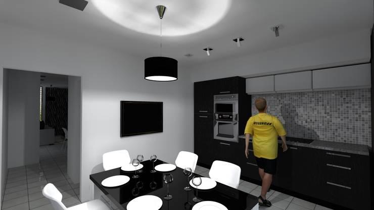 cocina/comedor:  de estilo  por VHA Arquitectura