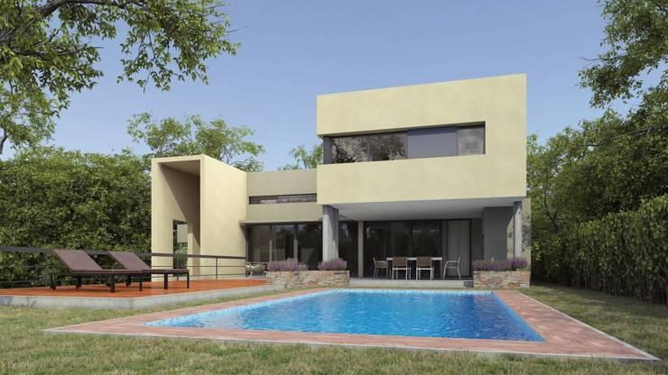 Casa la rufina: Piletas de estilo  por Domus&Roma