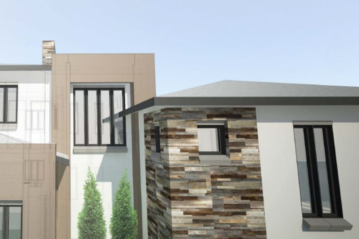 Facade design:  Houses by A4AC Architects