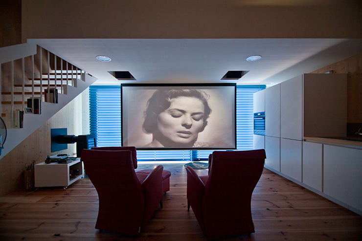 modern Media room by MapOut
