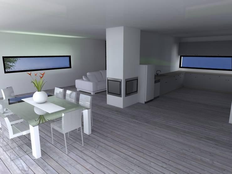 "Vivenda Unifamiliar - ""FV"": Casas  por Traço M - Arquitectura"
