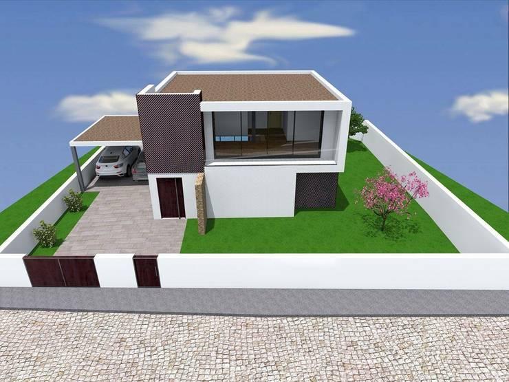 "Vivenda Unifamilar ""JM"": Casas  por Traço M - Arquitectura"