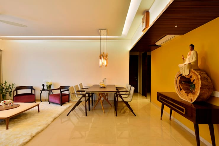 4 Bed Apartment Interior:  Dining room by Aum Architects