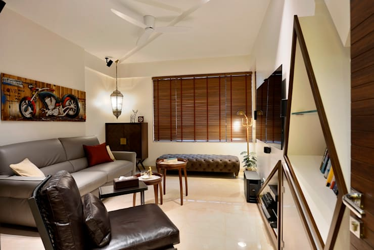4 Bed Apartment Interior:  Media room by Aum Architects