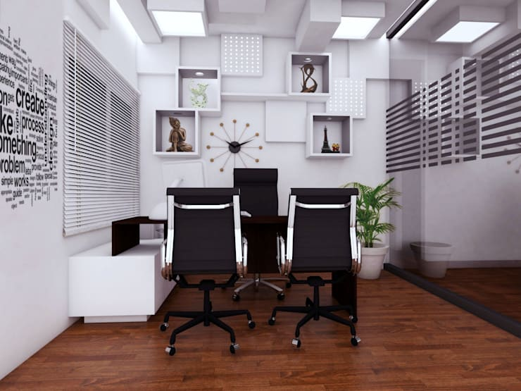 MD cabin:   by Izza Architects & Interior designers