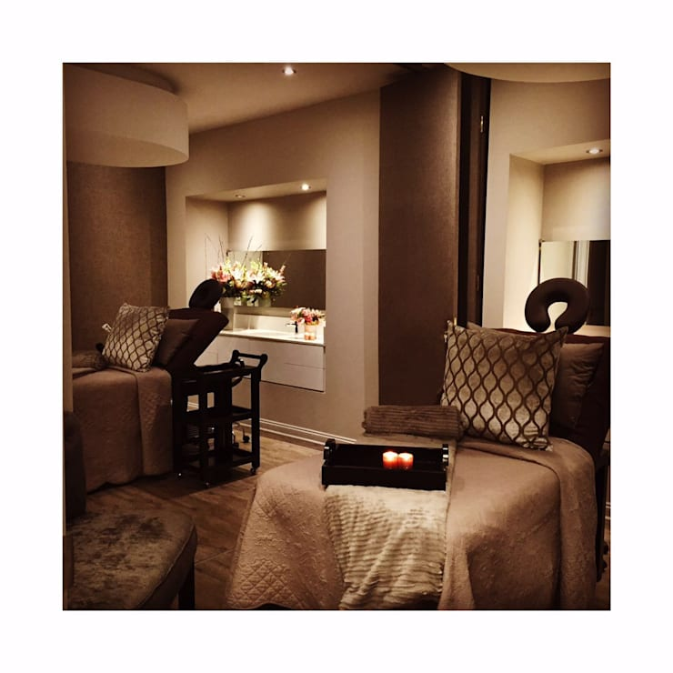 Couples Treatment Room:  Spa by GSI Interior Design & Manufacture