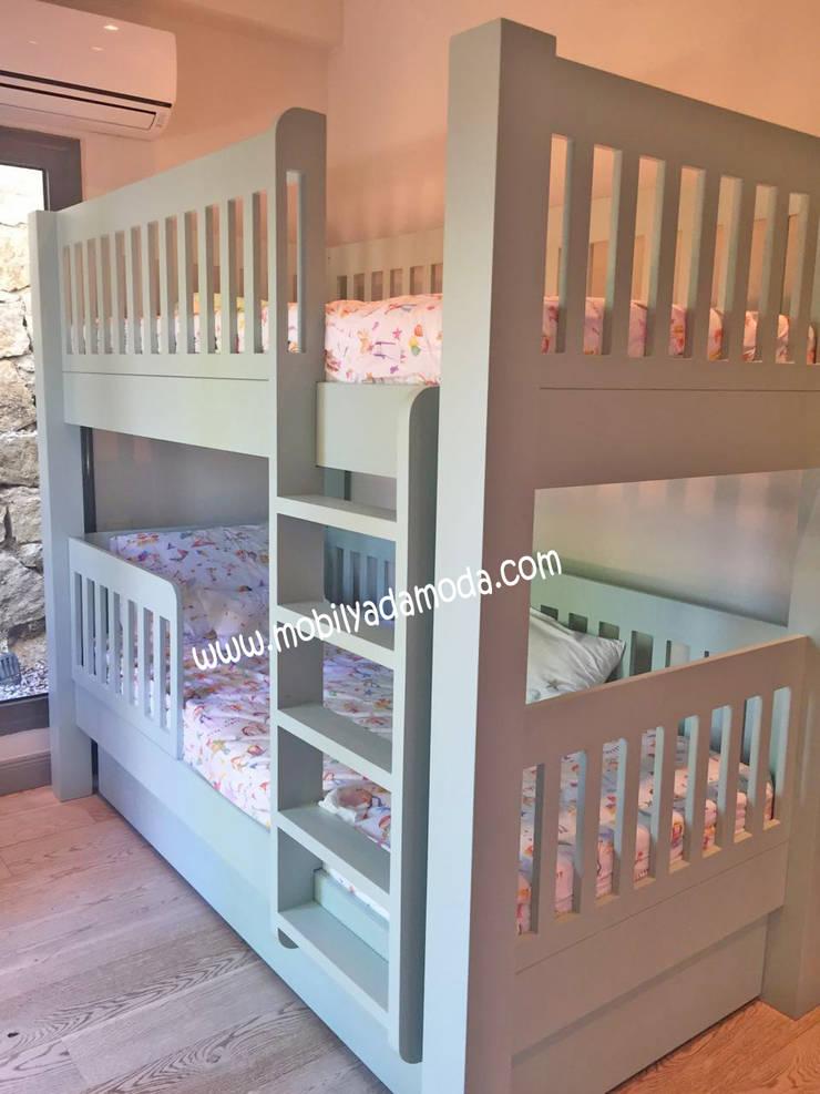 MOBİLYADA MODA  – Kişiye Özel Çocuk OdasI Ranzası, Altı yavru yataklı ranza:  tarz Çocuk Odası, Modern Ahşap Ahşap rengi