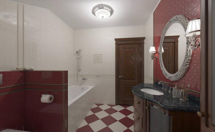 Интерьер ванной комнаты.: Ванные комнаты в . Автор – Aleksandra  Kostyuchkova