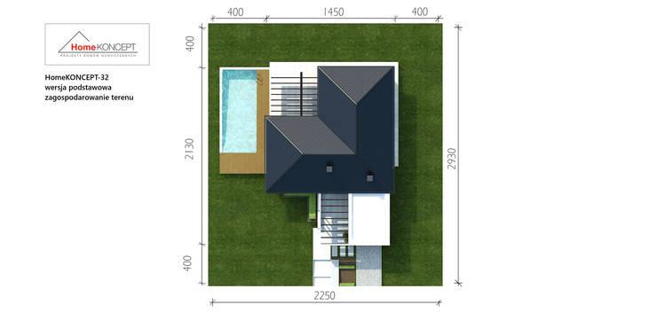 Casas de estilo  por HomeKONCEPT | Projekty Domów Nowoczesnych