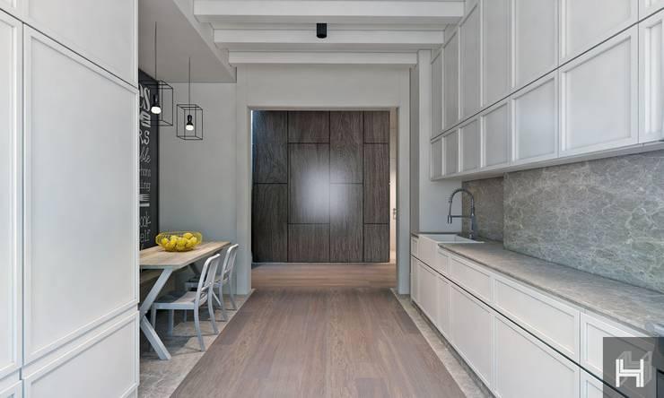 ÖZHAN HAZIRLAR İÇ MİMARLIK – Florya evi:  tarz Mutfak
