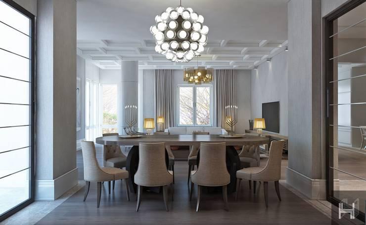 ÖZHAN HAZIRLAR İÇ MİMARLIK – Florya evi:  tarz Yemek Odası