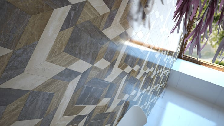 LA MAREA Mosaic / Fractal Version by Sercan Çetin Рустiк Мармур