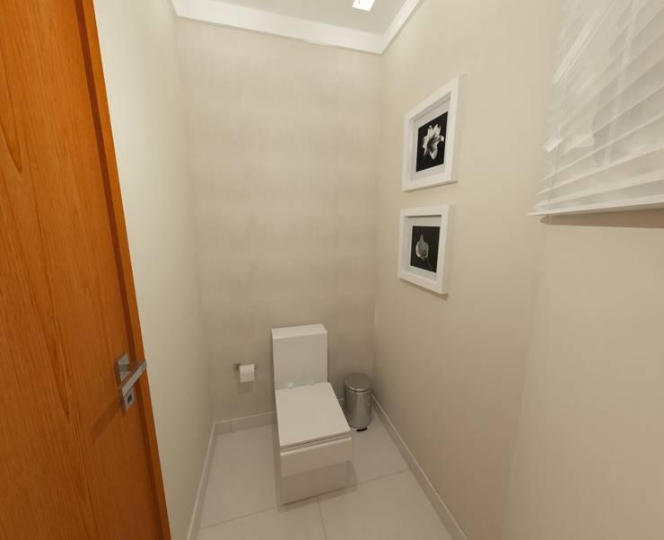 Reforma Lavabo: Banheiros  por Camila Feriato