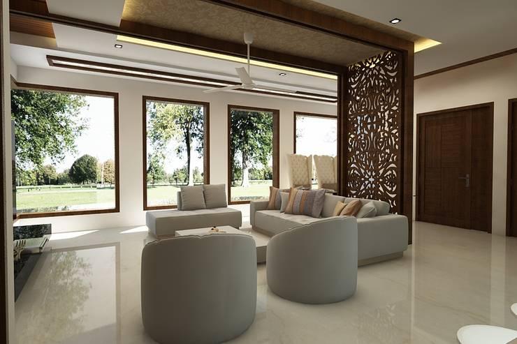 lobby:  Corridor & hallway by A Mans Creation,Modern