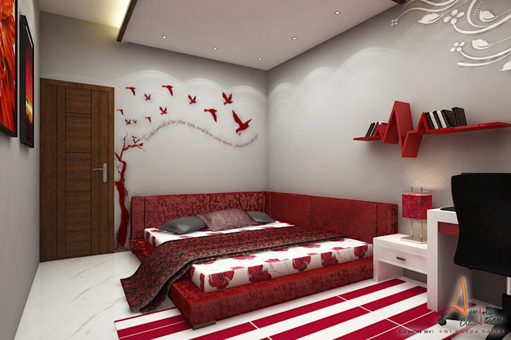 daughters room: modern Bedroom by A Mans Creation