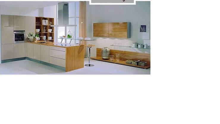 Ply laminate modular kitchen high gloss:  Kitchen by param associates