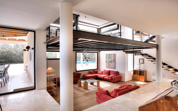 Living room by MG&AG.ARQUITECTOS