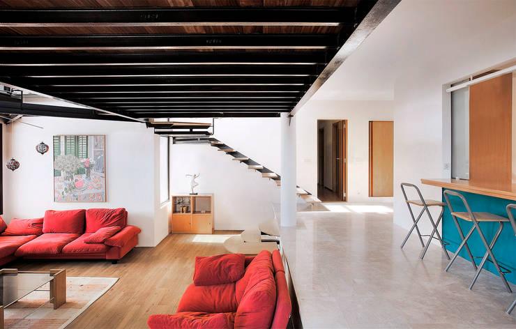 Livings de estilo  por MG&AG.ARQUITECTOS
