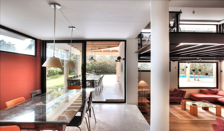 modern Dining room by MG&AG.ARQUITECTOS